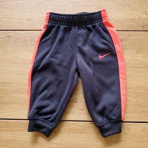 Nike Grey and Orange Dri-Fit Jogger Pants